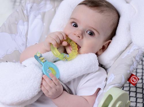 Прорезыватель Happy Baby с водой и держателем Water teether Голубой (6)