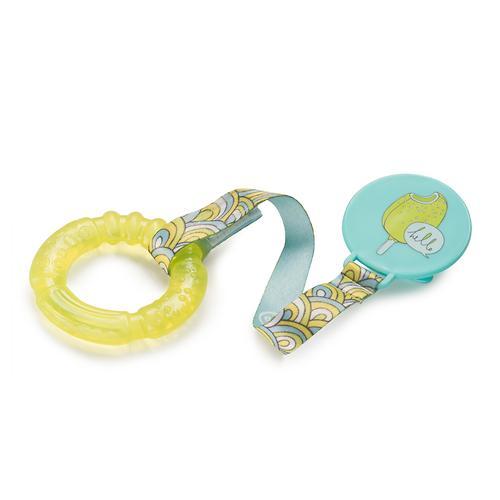 Прорезыватель Happy Baby с водой и держателем Water teether Желтый (6)