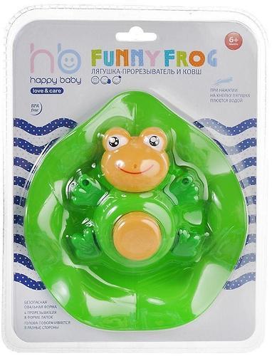 Прорезыватель-лягушка и ковш Happy Baby Funny frog (6)