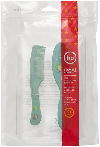 Набор щеток для волос Happy Baby Brush Comb Set Mint (6)