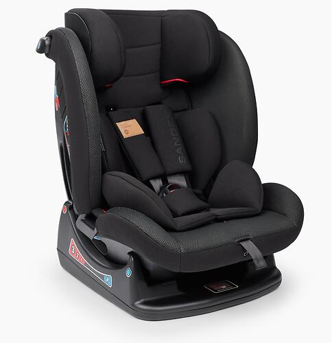 Автокресло Happy Baby Sandex Jet Black (8)