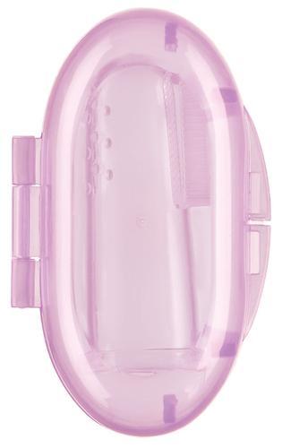 Зубная щетка на палец Happy baby Silicone Finger Toothbrush Lavender (5)