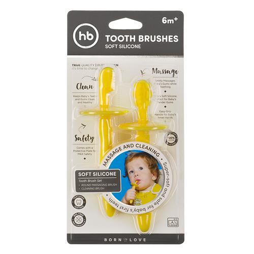 Набор Happy Baby силиконовых зубных щеток Tooth brushes Зеленый 2 шт/уп (6)