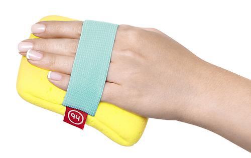 Мочалка с резинкой на руку Happy Baby Sponge Yellow (6)