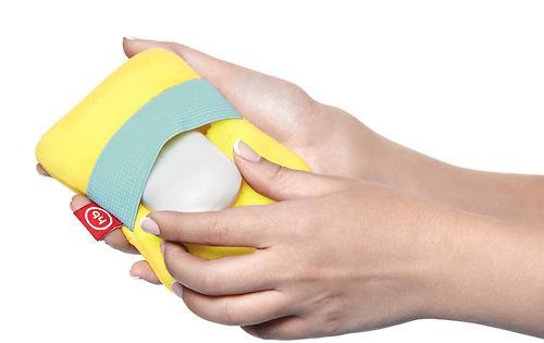 Мочалка с резинкой на руку Happy Baby Sponge Yellow (7)