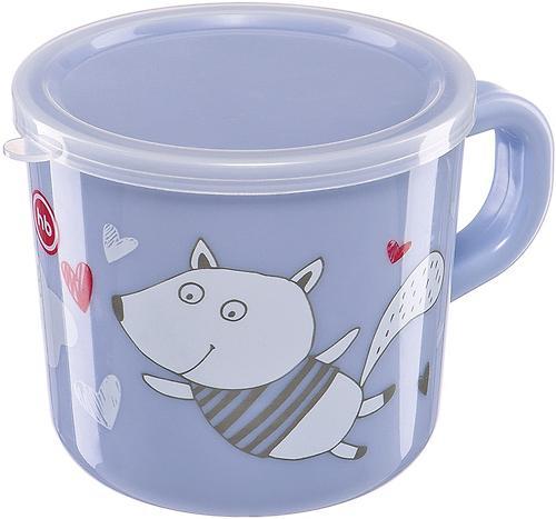 Кружка с ручкой и крышкой Happy Baby Training Cup Lilac (4)