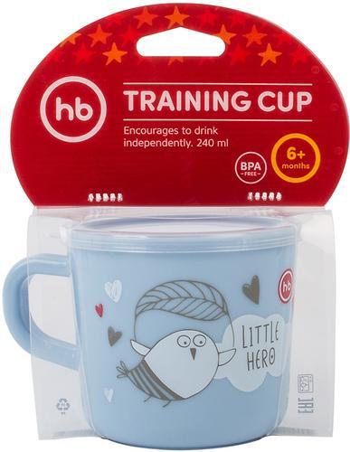 Кружка с ручкой и крышкой Happy Baby Training Cup Lilac (6)