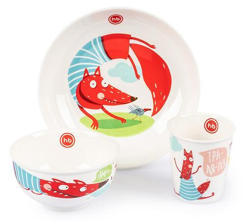 Набор детской посуды Happy Baby 15055 Fox (5)