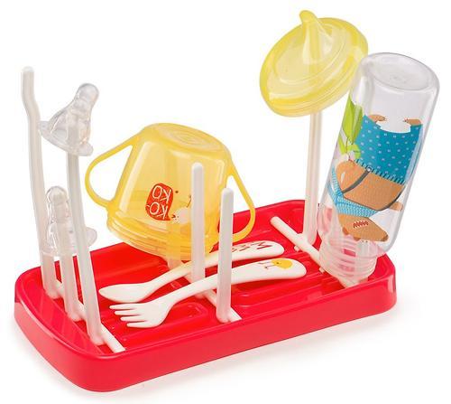 Сушка для бутылочек и аксессуаров Happy Baby Foldable Drying Rack Ruby (5)