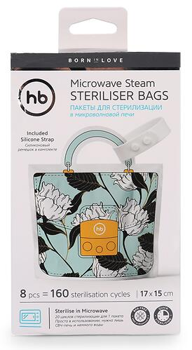 Пакеты для стерилизации Happy Baby в микроволновой печи 8 шт Mint (6)