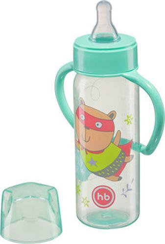 Бутылочка Happy Baby Baby Bottle с ручками и силиконовой соской мятный 10007 (4)