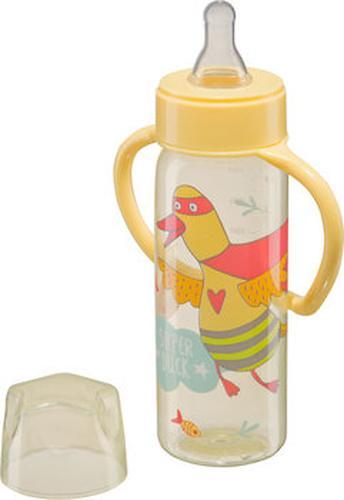 Бутылочка Happy Baby с узким горлышком Baby Bottle 250 мл желтый (4)