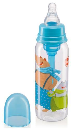 Бутылочка Happy Baby Baby антиколиковая с силиконовой соской 250мл 10015 Sky (6)
