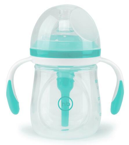 Бутылочка Happy Baby Anti-Colic Baby Bottle антиколиковая с ручками и силиконовой соской 180 мл Aqua (6)