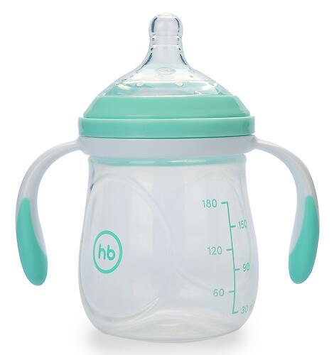 Бутылочка Happy Baby Anti-Colic Baby Bottle антиколиковая с ручками и силиконовой соской 180 мл Aqua (7)