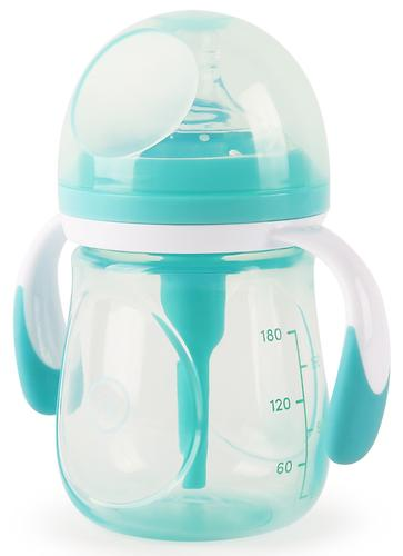Бутылочка Happy Baby Anti-Colic Baby Bottle антиколиковая с ручками и силиконовой соской 180 мл Mint (5)