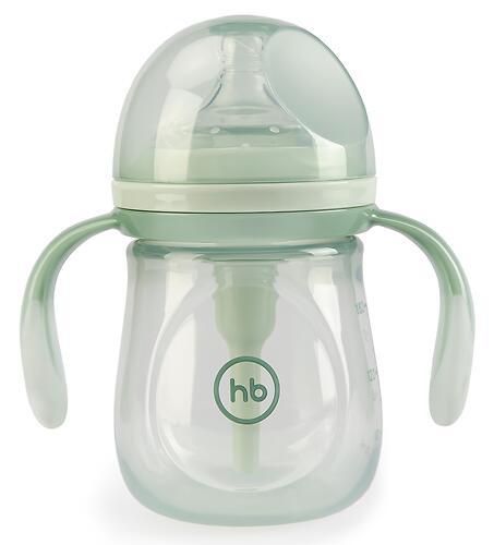 Бутылочка Happy Baby Anti-Colic Baby Bottle антиколиковая с ручками и силиконовой соской 180мл Olive (5)