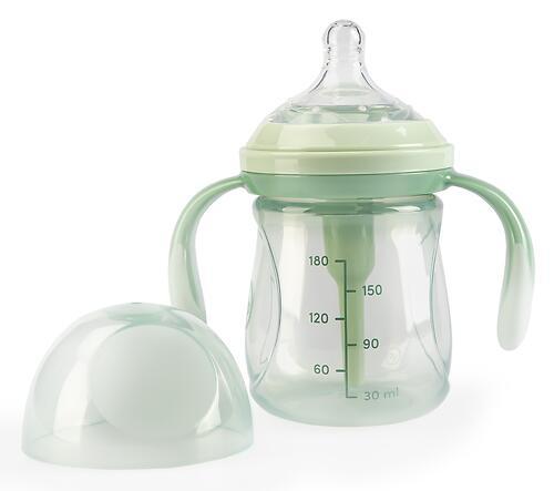 Бутылочка Happy Baby Anti-Colic Baby Bottle антиколиковая с ручками и силиконовой соской 180мл Olive (6)