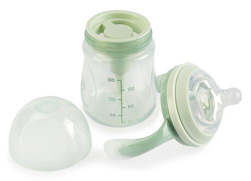 Бутылочка Happy Baby Anti-Colic Baby Bottle антиколиковая с ручками и силиконовой соской 180мл Olive (7)