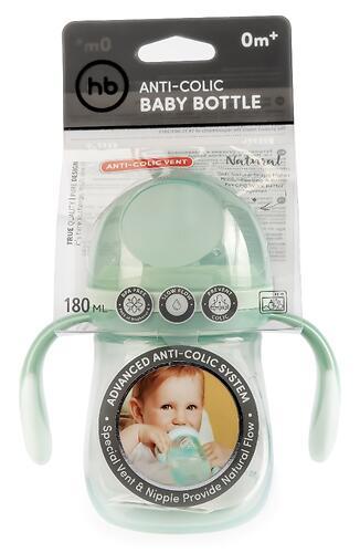 Бутылочка Happy Baby Anti-Colic Baby Bottle антиколиковая с ручками и силиконовой соской 180мл Olive (8)