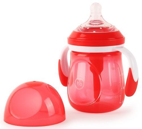 Бутылочка Happy Baby Anti-Colic Baby Bottle антиколиковая с ручками и силиконовой соской 180 мл Ruby (5)