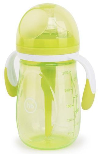Бутылочка Happy Baby антиколиковая с ручками и силиконовой соской 300 мл 10020 Lime (3)