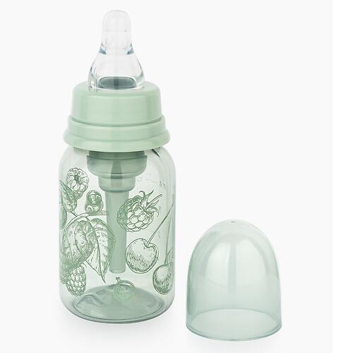 Бутылочка Happy Baby антиколиковая с силиконовой соской медлен. поток 120 мл Olive (6)