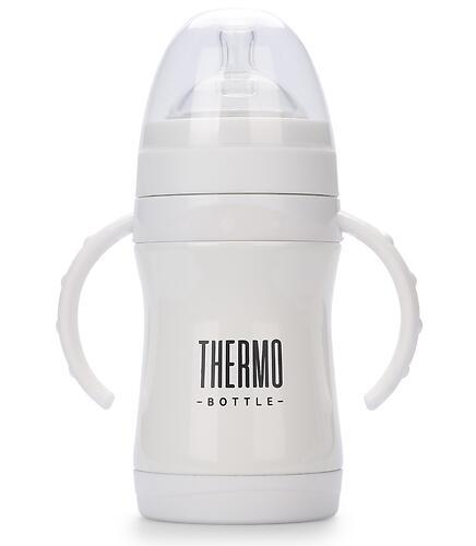 Термобутылочка Happy Baby с ручками, силиконой соской и соской-поильником 260 мл 10022 White (5)