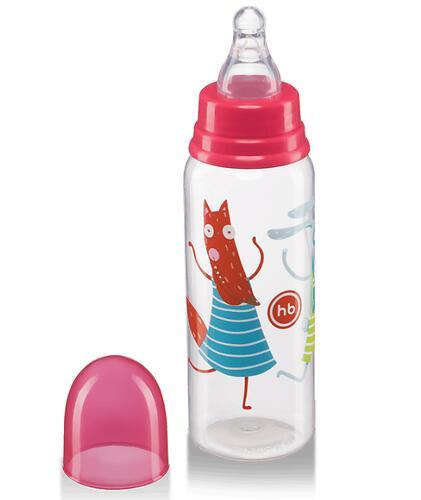 Бутылочка Happy Baby антиколиковая с силиконовыми сосками средн. поток 250 мл Ruby (5)