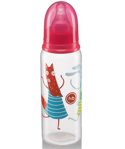 Бутылочка Happy Baby антиколиковая с силиконовыми сосками средн. поток 250 мл Ruby (4)