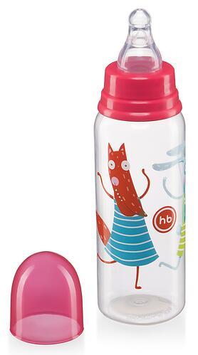 Бутылочка Happy Baby антиколиковая с силиконовыми сосками средн. поток 250 мл Ruby (3)