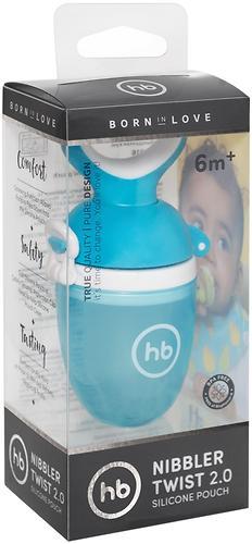 Ниблер Happy Baby силиконовый для пюре Nibbler Twist Blue (7)