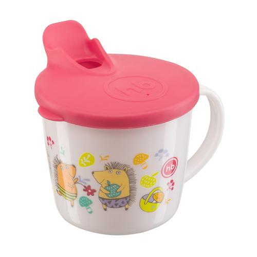 Тренировочная кружка Happy Baby Training cup с Красной крышкой (8)