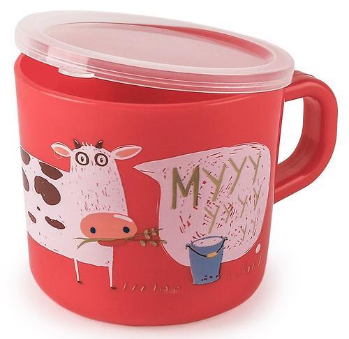 Кружка с ручкой и крышкой Happy Baby Training Cup Ruby (4)
