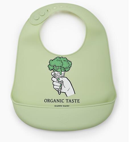 Нагрудник Happy Baby силиконовый Soft Silicone Bib Green (6)