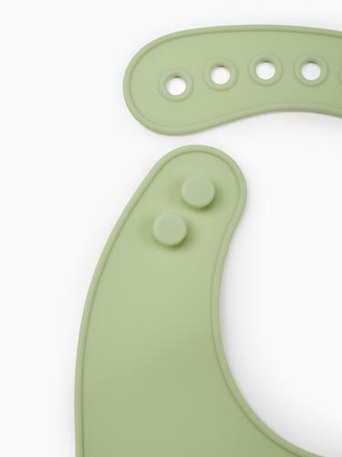 Нагрудник Happy Baby силиконовый Soft Silicone Bib Green (9)