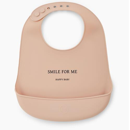 Нагрудник Happy Baby силиконовый Bib Pocket Nude (4)