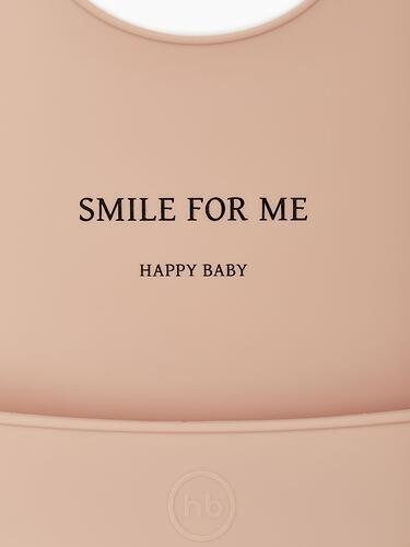 Нагрудник Happy Baby силиконовый Bib Pocket Nude (6)