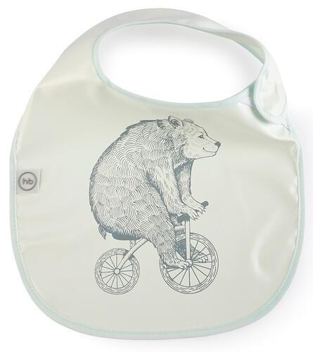 Нагрудный фартук Happy Baby на липучке 16009 Bear (6)