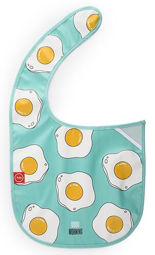 Нагрудник Happy Baby на липучке Waterproof Baby Bib 16009 Mint (4)