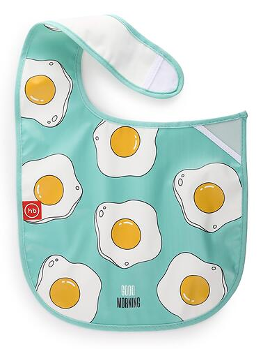Нагрудник Happy Baby на липучке Waterproof Baby Bib 16009 Mint (5)