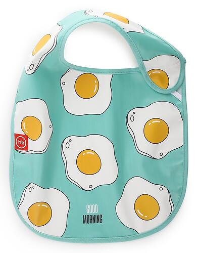 Нагрудник Happy Baby на липучке Waterproof Baby Bib 16009 Mint (6)