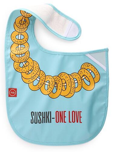 Нагрудный фартук Happy Baby на липучке 16009 Sushki (5)