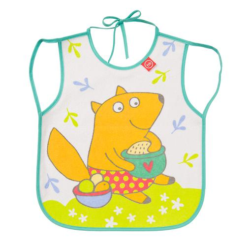Фартук Happy Baby нагрудный Baby bib with hangers Мятный fox (3)