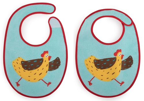 Набор нагрудников Happy Baby Set Terry Bibs Chiken 2 шт (5)