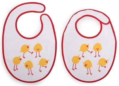Набор нагрудников Happy Baby Set Terry Bibs Chiken 2 шт (6)