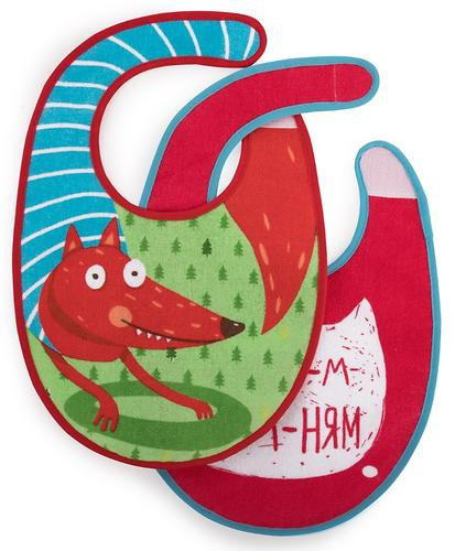 Набор нагрудников Happy Baby Set Terry Bibs Fox 2 шт (4)