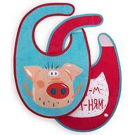 Набор нагрудников Happy Baby Set Terry Bibs Pig 2 шт