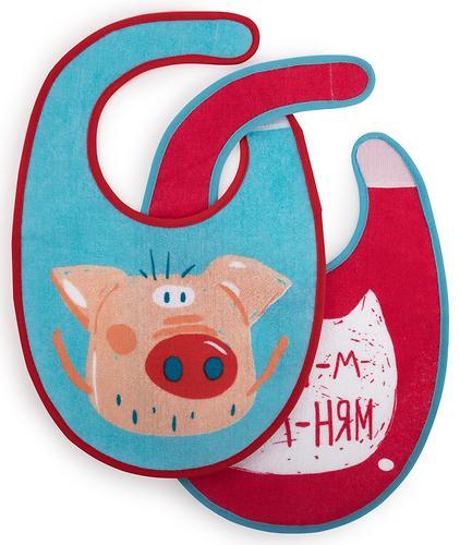 Набор нагрудников Happy Baby Set Terry Bibs Pig 2 шт (4)