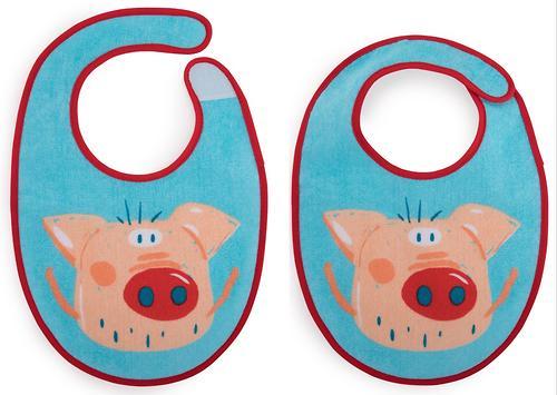 Набор нагрудников Happy Baby Set Terry Bibs Pig 2 шт (5)